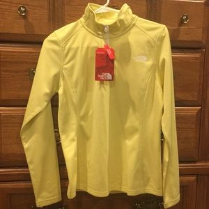 The North Face yellow quarter zip